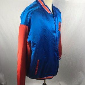 5af744549 Hardwood Classics Jackets   Coats - Vtg NEW YORK KNICKS Satin Jacket G-III  NBA
